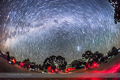 Star Trails over the OzSky Star Party (Amazing Sky Photography) Tags: australia southerncross nsw crux observers startrails warrumbungles southernhemisphere starparty 3rf circumpolar coonabarabran ozsky southcelestialpole octans advancedstackerplus