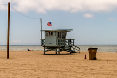 Lifeguard Station - Santa Monica Beach (Matthew Warner) Tags: california usa beach outdoors us losangeles unitedstates santamonica pacificocean santamonicabeach