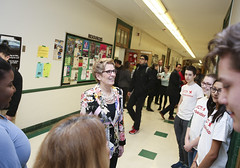 IMG_1864  Premier Kathleen Wynne engaged in a discussion with students from Danforth Collegiate and Technical Institute on financial assistance for post secondary education. (Ontario Liberal Caucus) Tags: school toronto college students education university highschool tuition potts coteau osap