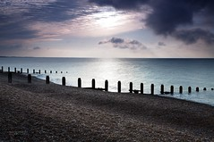 Winchelsea Beach logo (gregoryphoto150) Tags: uk sussex moody shingle dramatic pebbles pebblebeach winchelsea groynes