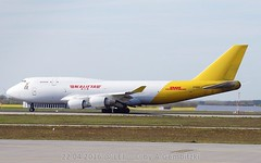 N740CK - 22 04 2016 @ LEJ-3-SMALL (a.gembi) Tags: sticker boeing 747400 planespotting lej eddp flughafenleipzighalle kalittaair leipzighalle n740ck lejeddp