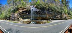 Bridal Veil Falls, Highland, NC (WabbyTwaxx) Tags: park panorama forest waterfall nc veil state north falls highland national carolina bridal nantahala hdr giga kolor autopano
