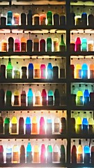 Multicoloured Bottles (Dave G Kelly) Tags: bar bottles display athens indoors greece multicolored