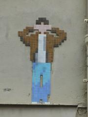 Megamatt (Archi & Philou) Tags: streetart mosaic flashback tiles pixelart mosaque carreau paris11 megamatt
