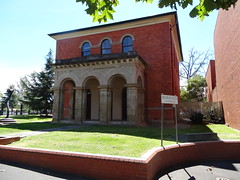 Bendigo. In View Street the old Survey Office built in 1858. (denisbin) Tags: school church catholic cathedral artgallery bank methodist poppet congregational camphill bendigo masonichall rosalindpark wesleyanmethodistchurch vahland surveyoffice wesleyanmethodsit