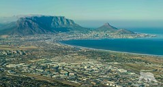 Approaching Cape Town (fascinationwildlife) Tags: ocean africa city morning winter sea mountain nature table landscape photography town inflight airport scenery head south natur scenic aerial lions cape approach sdafrika cpt