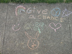 Give Peace a Chance (smaginnis11565) Tags: easter star rainbow peace heart sidewalk fourleafclover easterbunny chalkdrawing smilingface 32716