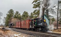 Holding the main at Alna Center (kdmadore) Tags: railroad train steam steamengine wwf narrowgauge steamlocomotive alna 2foot wiscassetwatervillefarmington wwfry9 maine2foot