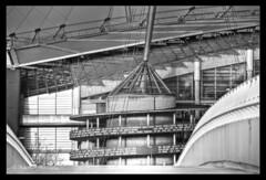 ETIHAD STADIUM MONO HDR MSP0004510 (MIKE SCOTT2) Tags: city white black mike club scott manchester photography mono football image footbridge stadium hdr etihad