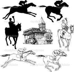Silhouettes and graphic sketches of horses and jockeys, vintage style, graphic drawing hippodrome for design (jockeyclubdopiaui) Tags: old horse holiday motion black art classic texture nature animals silhouette sport set racetrack race vintage layout freedom design sketch jumping mare pattern graphic action head drawing farm decorative background cartoon decoration champion competition run racing retro collection nostalgia riding jockey western ribbon win mustang draw decor vector equestrian racecourse stallion equine drowing hippodrome