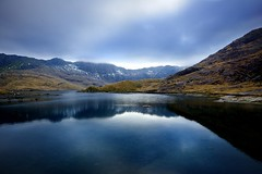 Llyn Llydaw (BitRogue) Tags: blue mountain lake mountains nature water wales landscape nationalpark nikon outdoor snowdon snowdonia d800 llynllydaw minerstrack 1635mm mountsnowdon capturenx2