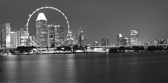 Singapore flyer in motion (Br@jeshKr) Tags: blackandwhite blackwhite singapore singaporenight singaporeflyer d7200 nikond7200