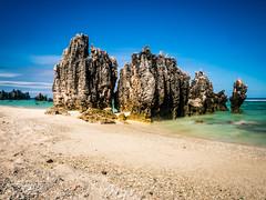 Nauru Pinnacles long exposure (laith_stevens) Tags: ocean longexposure beach sand surf cloudy smokey 100 milky pinnacles nauru 6stopndfilter