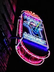 Late Nite Munchies @ Voodoo Doughnut (Skip Plitt) Tags: signs sign oregon neonlights pdx neonsign portlandoregon voodoodoughnut keepportlandweird oldtownportland iphonephoto iphoneography latenitemunchies snapseed tangledfx skipplittphotography