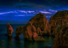 4 Seagull Thrones - Ponta da Peidade, Lagos, Portugal (martintimmann) Tags: seascape portugal night landscape dawn reisen meer nacht lagos dmmerung landschaft