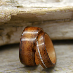 Santos Rosewood, Birch and Mother of Pearl (stoutwoodworks) Tags: wood wedding water one wooden engagement natural bend handmade grain mother band craft jewelry steam ring kind rings santos strong handcrafted pearl birch steamed bent 8mm alternative lining stout offset ecofriendly inlay rosewood lined durable 10mm woodworks bentwood