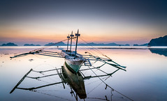Reflections (Quentin K) Tags: travel sunset color island boat philippines adventure elnido palawan