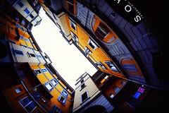 UrbanPerspectives (Brigante..) Tags: milan color architecture fuji milano fisheye velvia fujifilm 8mm urbanphotography fuorisalone viatortona brigante noseup fujifilmxt1