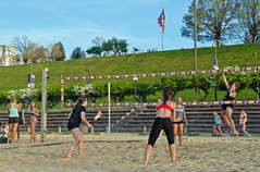 2016-04-18 BBV Women's Doubles (53) (cmfgu) Tags: girls net beach sports ball court md sand women outdoor maryland baltimore bikini volleyball athlete league innerharbor doubles twos bbv 2s rashfield