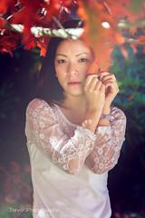 falling leaves (Holasea-JWD) Tags: autumn portrait leaves asian women mt melbourne falling macedon canon5dmarkii