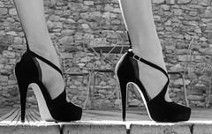 escarpins (normamisslegs) Tags: bw white black stockings fetish noir heels feets bas et blanc couture ff nylon fully talons cervin fashioned hauts ftiche escarpins misslegs