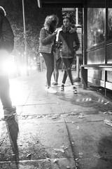 (Aaciss) Tags: girls bus rain night legs stop crossed hooded