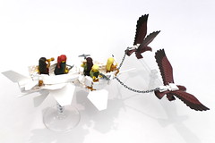 Elf Sky Reamer (Jeddy and Daddy) Tags: lego eagle battle elf eagles ballista orcs greenskin armies legoideas highelf fantasyera castletheme skychariot castleera skyreamer