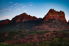 Red Rock Glow (johnfuj) Tags: red arizona usa rock landscape evening scenery unitedstates desert sedona land environment