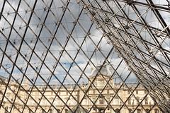 Inside the Pyramid (koalie) Tags: paris france museum pyramid lelouvre pyramidedulouvre 2015052122paris