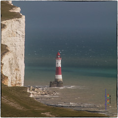 Iconic - Beachy Head Lighthouse (www.caughtbythelight.net) Tags: lighthouse hope suicide despair southdowns englishchannel beachyhead chalkcliffs