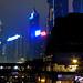 Wan Chai Buildings at night Hong Kong China