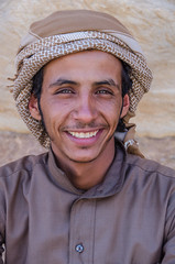 A Smile from the Desert (RJDonga) Tags: portrait people smile desert wadirum middleeast arabic jordan welcome turban hospitality bedouin