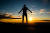 A Leveza (JoFigueira) Tags: sunset sky sun sol portugal silhouette clouds contrast jump shadows horizon céu pôrdosol contraste salto sombras serradaestrela horizonte silhueta núvens flutuar