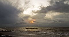 Fire and smoke (rhfo2o - rick hathaway photography) Tags: sea sky sun beach clouds sunrise seaside waves galaxy rustington rustingtonbeach groynemarker rhfo2o samsunggalaxys6 rustingtonrocks