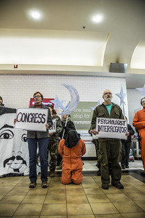 Witness Against Torture at Union Station Food Court