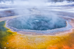 Breathe (Ray Palmer Photography) Tags: winter landscape nationalpark oldfaithful steam yellowstonenationalpark yellowstone wyoming geyser breathe sulfur brimstone wy landscapephotography raypalmer geyserbasin crestedpool raypalmerphotography