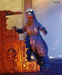 The Strange Case of the Shrunken Godzilla (BrickSev) Tags: classic monster toy toys actionfigure photography action indoor godzilla actionfigures figure scifi sciencefiction monsters collectible universe figures diorama collectibles tabletop alternate toyphotography