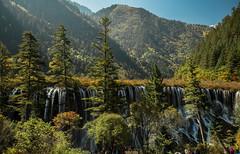 Nuorilang Fall (Philipp Salveter) Tags: china lake nature water flow waterfall nationalpark long exposure tibet sichuan jiuzhaigou jiuzh