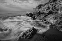 Espuma y sal (J Fuentes) Tags: sea bw costa blancoynegro beach water marina blackwhite agua flickr waves salt playa save foam olas torrox mlaga