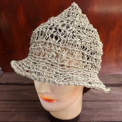 Natural Crochet Hat Womens Hat, Summer Hat for Women, 2 Inch Wide Brim Hat Women, Natural Hat, SHADY LADY Wide Brim Hat (strawberrycouture) Tags: summer hat cord strawberry women natural crochet wide womens couture hemp brim