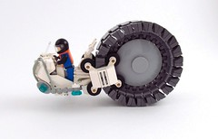 """Pegasus"" (side) (_TrapleS_) Tags: wheel lego space pegasus cockpit galaxy future scifi cosmonaut afol monowheel monobike"