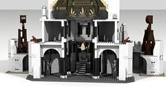 Minas Tirith 14 (Anduin1710) Tags: city white men king minas lego lotr return tolkien middleearth jrr tirith the thelordoftherings ldd gondor digitaldesigner