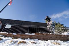 Boardslide waterfall (AWDPWNZ) Tags: friends urban snow church fun snowboarding nikon colorado board bored snowboard co nightmare snowboarder