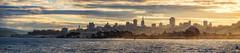 Morning glory at the bay (reinaroundtheglobe) Tags: ocean sanfrancisco california morning panorama skyline clouds america sunrise cityscape northamerica