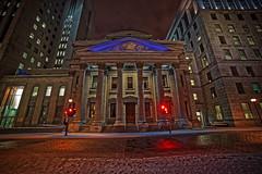 BMO Banque de Montral at Night (Dave Sexton) Tags: door canada night de montral quebec sony columns steps bmo f28 a7 faade banque 14mm samyang fotodiox