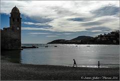 Els nens a la platja.  (Cotlliure - Frana). (Antoni Gallart i Vilarrasa) Tags: sea sky france beach clouds children lumix frana playa cel nios cielo nubes francia platja nens nvols colliure cotlliure colibre