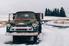 Peg Leg (Pedalhead'71) Tags: winter snow abandoned truck washington oaksdale