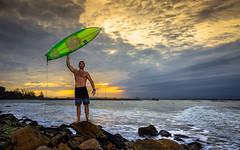 Gray Rooster (Diego S. Mondini) Tags: santa sea brazil praia brasil mar francisco do surf catarina são sul molhe