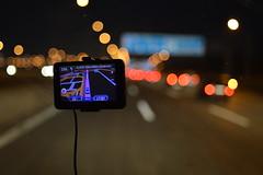 On the road (mttdlp) Tags: vienna road travel car lights bokeh vetro tomtom trasparenze d3200