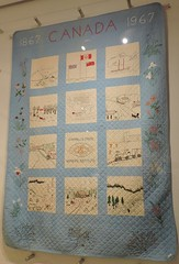 Centennial Quilt (Will S.) Tags: mypics museum archives peelcountyjail brampton ontario canada oldbuildings oldarchitecture peelcounty heritage history peelregion womensinstitute campbellscross quilt centennial peelartgallerymuseumarchives old peelcountycourthouse peelcountyregistry countyregistry countyjail countycourthouse peel forhomeandcountry